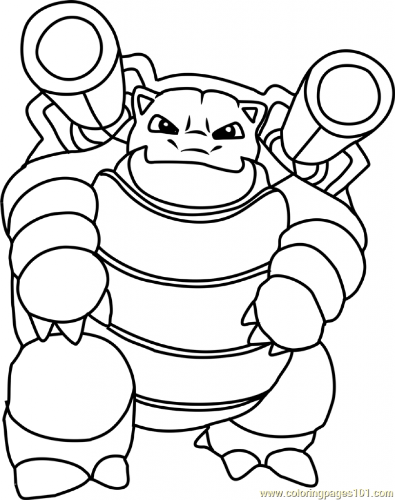 809x1024 Pokemon Coloring Pages Blastoise Blastoise Pokemon Coloring Page