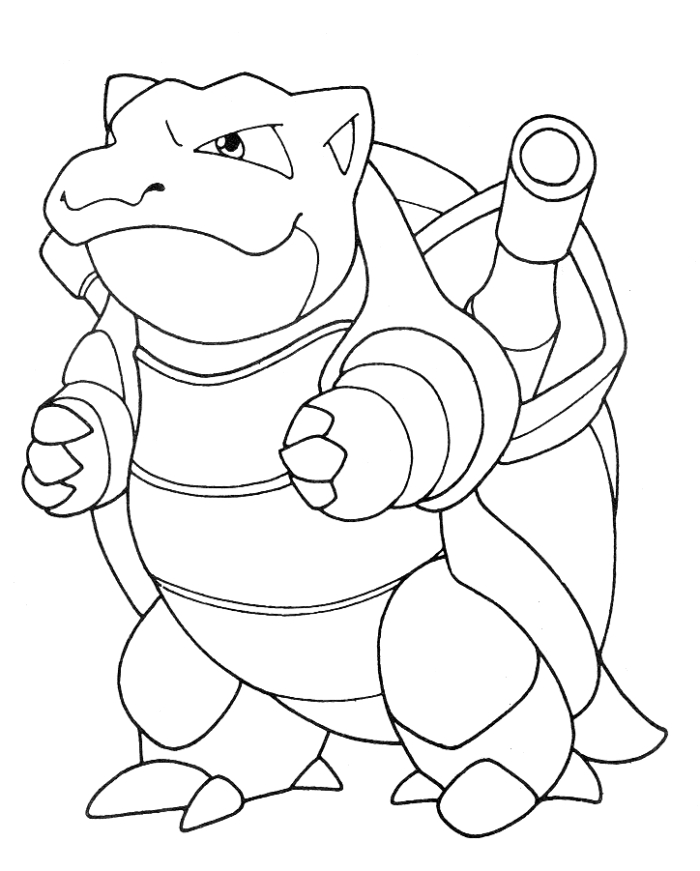 700x871 Pokemon Coloring Pages Blastoise Entrancing Pokemon Coloring Pages