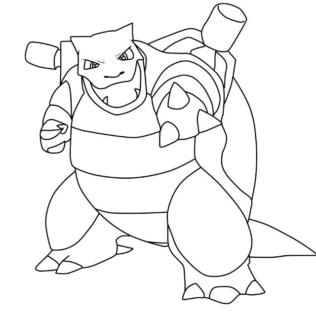 640x640 Pokemon Coloring Pages Mega Blastoise