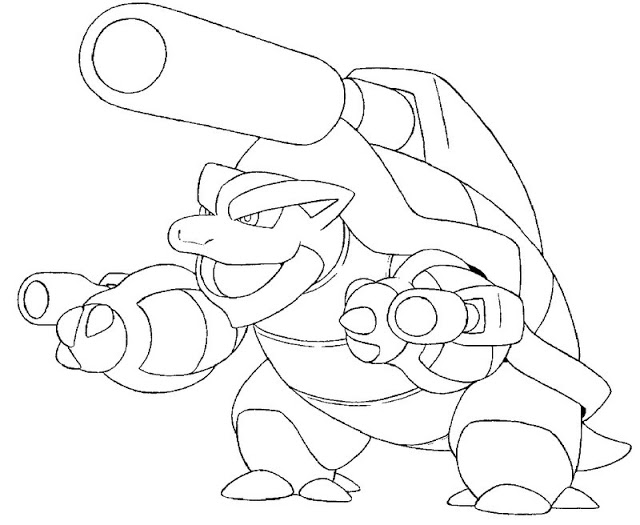 640x525 Project Ideas Pokemon Coloring Pages Blastoise Mega