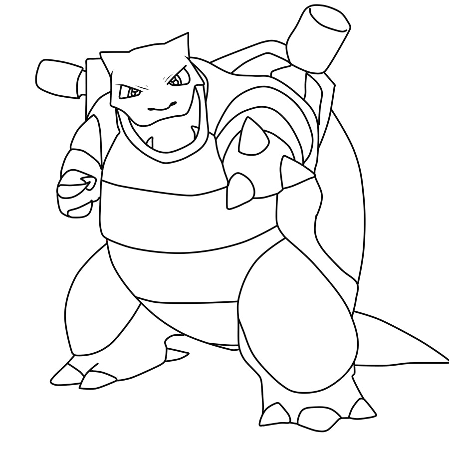 900x900 Unique Pokemon Coloring Pages Blastoise Collection Printable