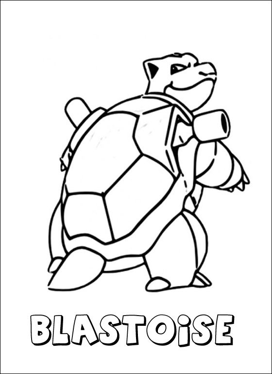 560x768 Blastoise Coloring Pages Blastoise Coloring Page Pokemon