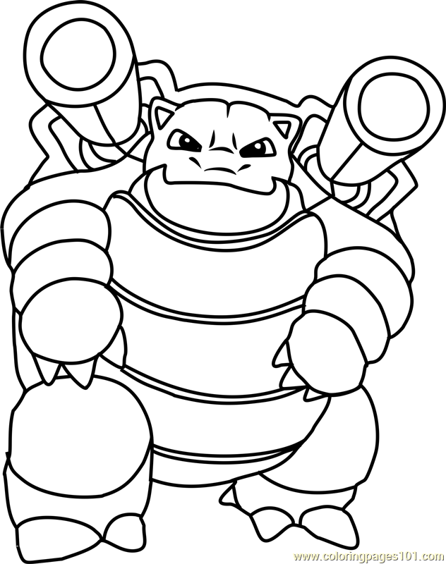 632x800 Blastoise Pokemon Coloring Page