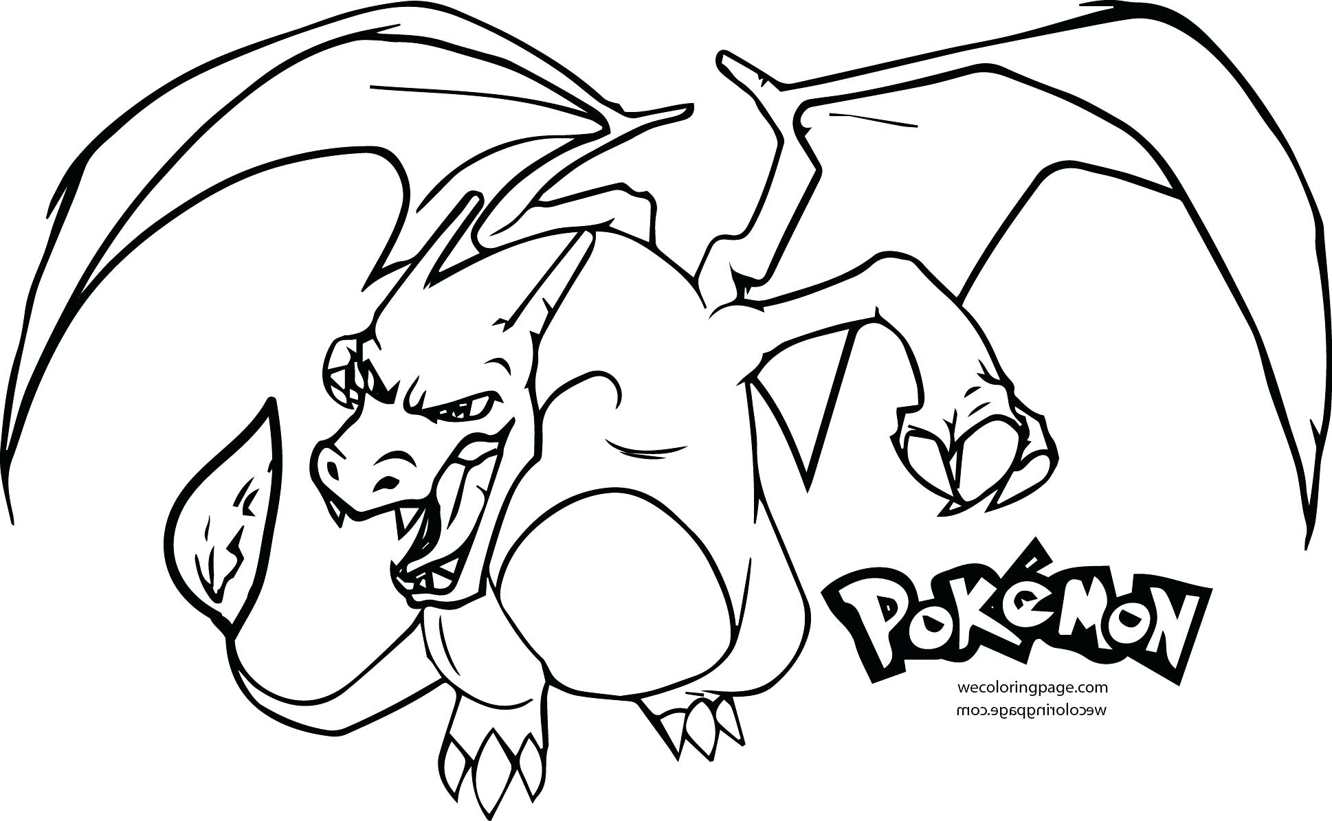 Pokemon Coloring Pages Charizard At Getdrawings Free Download