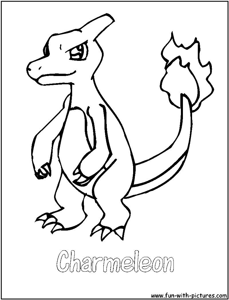 Pokemon Coloring Pages Charmeleon At Getdrawings Com Free For