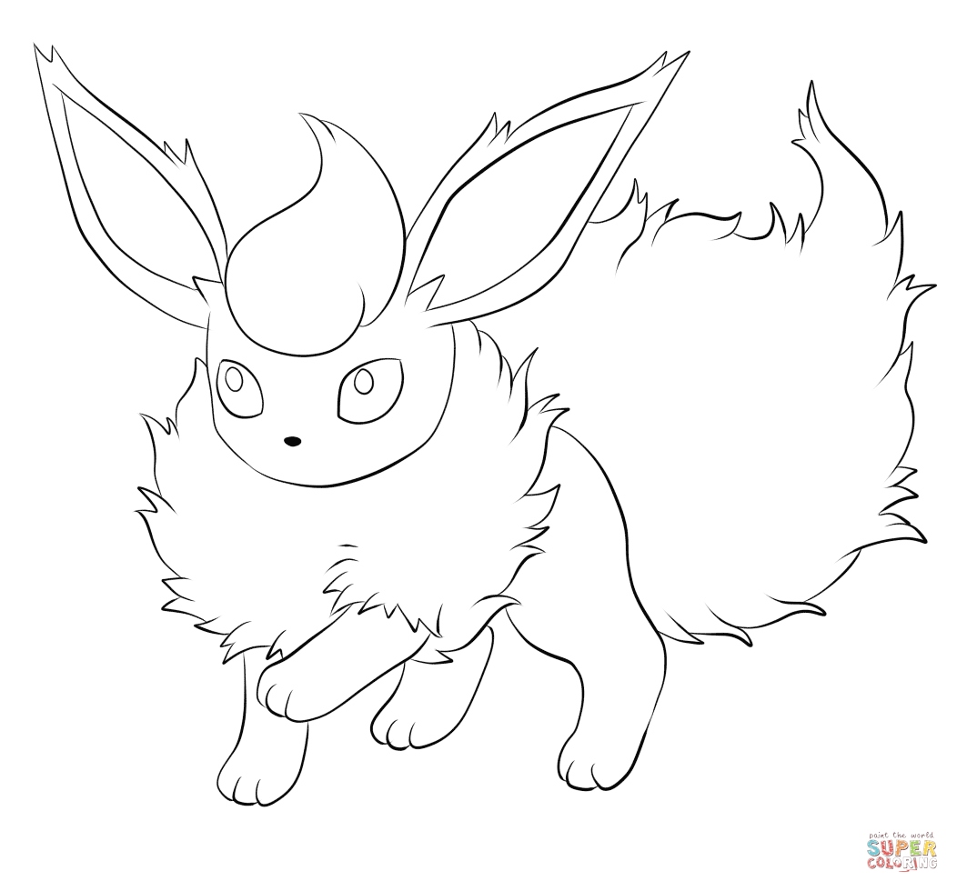 1052x980 Flareon Coloring Pages