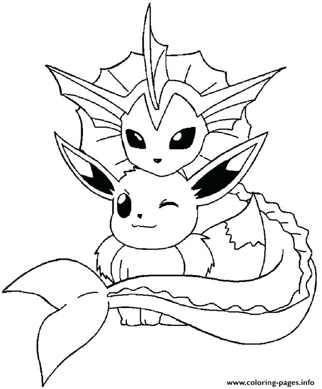 663x800 Pokemon Coloring Pages Eevee Evolutions Collection Printable
