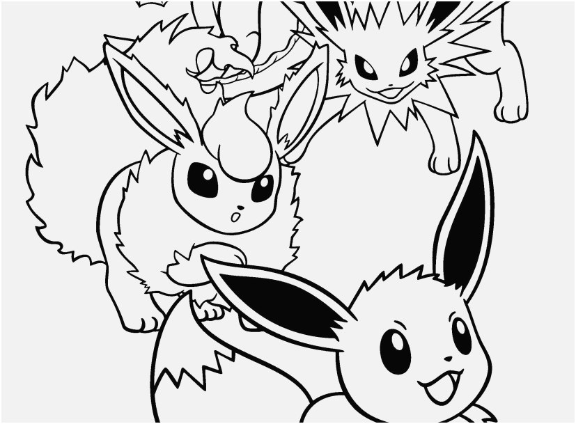 827x609 Pokemon Coloring Pages Eevee Evolutions Images Best Fine Pokemon