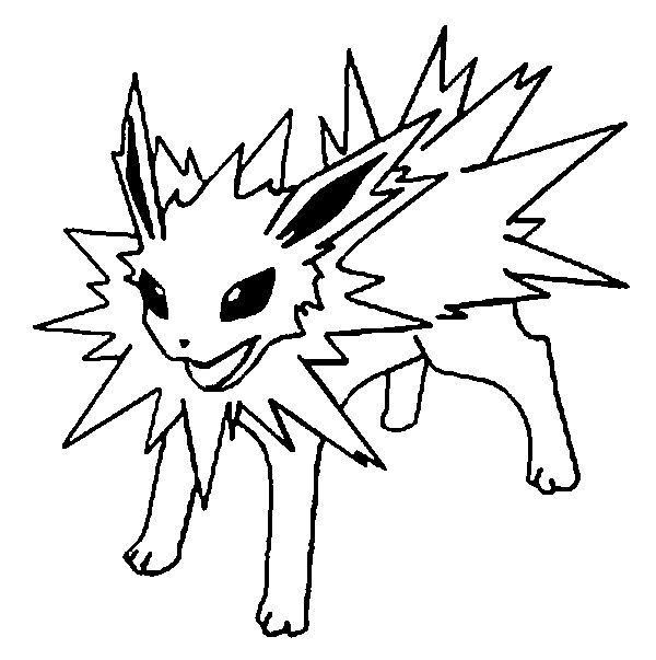 600x603 Pokemon Coloring Pages Eevee Evolutions Pokemon Coloring Pages