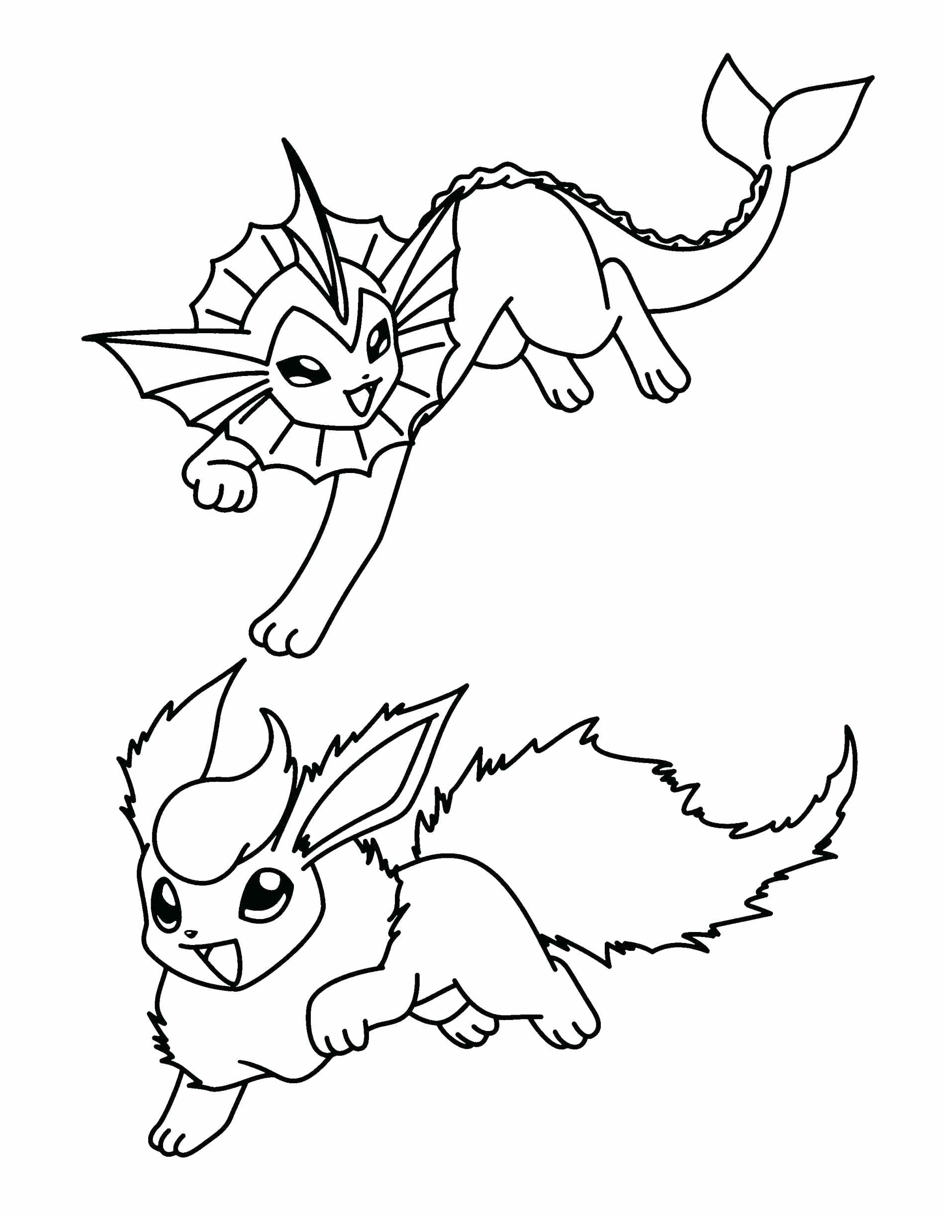 1896x2449 Coloring Pokemon Coloring Pages Eevee All Evolutions Glaceon