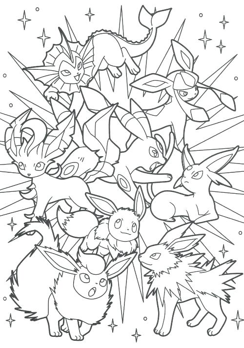 500x713 Pokemon Coloring Pages Eevee