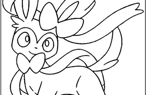 469x304 Pokemon Coloring Pages Eevee Evolutions Sylveon Just Colorings