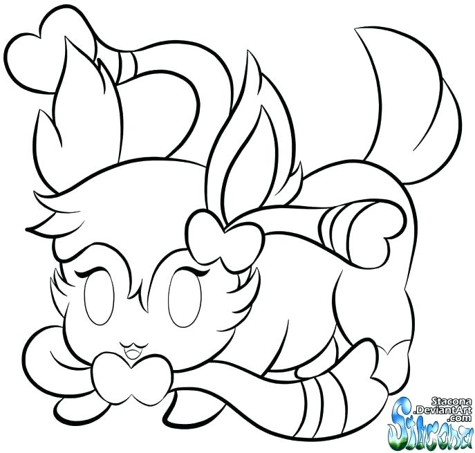 687x655 Eevee Pokemon Colouring Pages Gallery Of Coloring Pages Stock