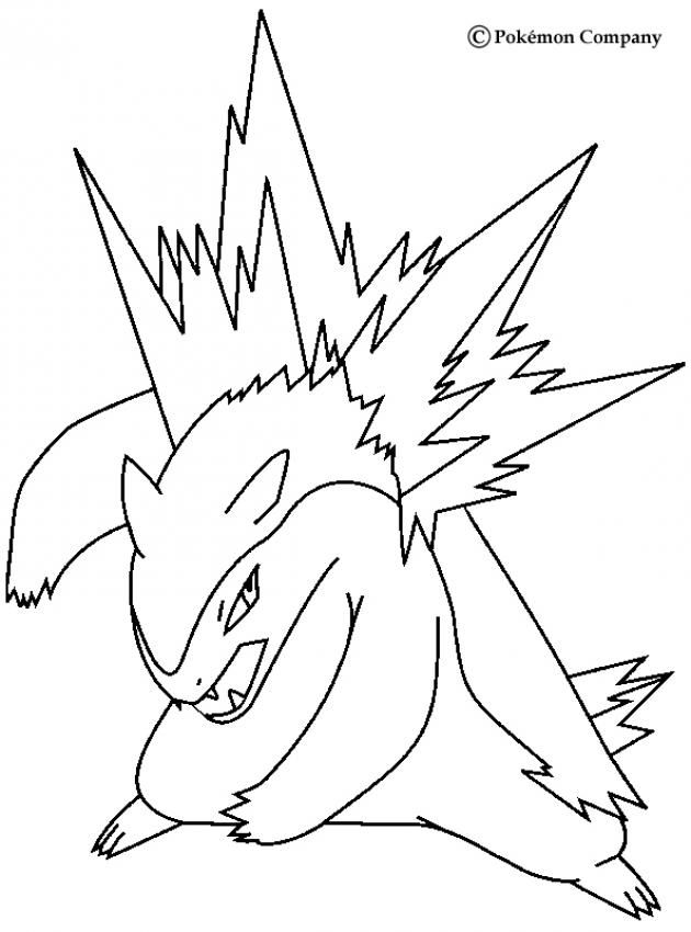 630x850 Typhlosion Pokemon Coloring Page More Fire Pokemon Coloring