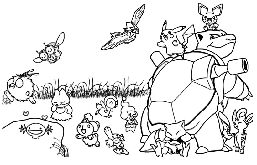 Pokemon Coloring Pages Games At Getdrawings Com Free For Personal