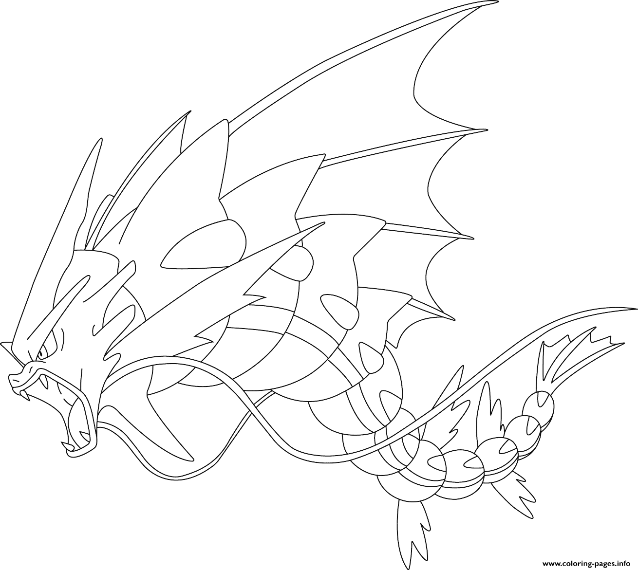 1310x1171 Mega Gyarados Pokemon Coloring Pages Printable