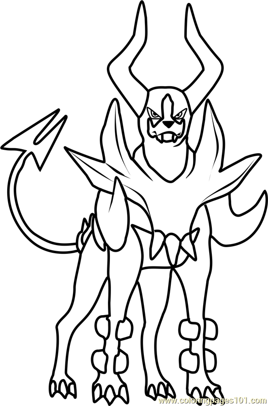 529x800 Mega Houndoom Pokemon Coloring Page