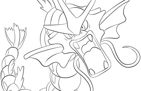 469x304 Pokemon Coloring Pages Gyarados Just Colorings