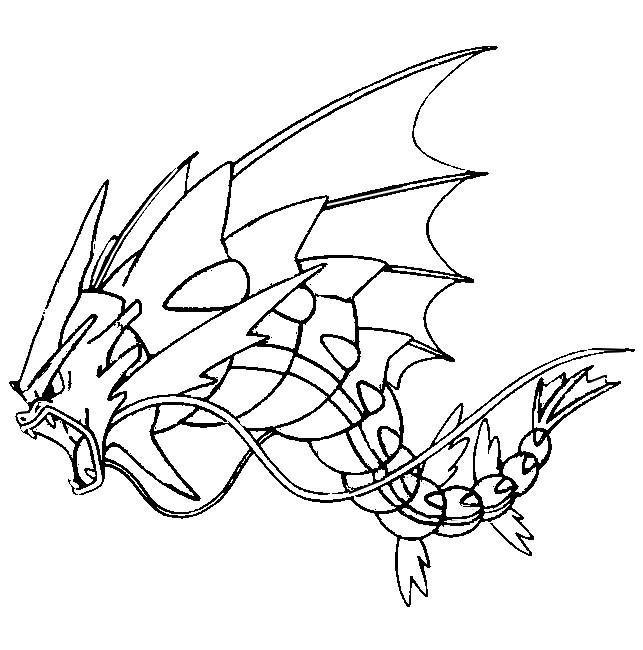 643x650 Coloring Page Mega Evolved Pokemon Mega Gyarados
