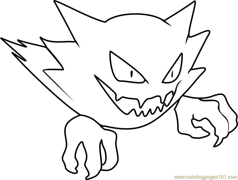 800x606 Haunter Pokemon Coloring Page