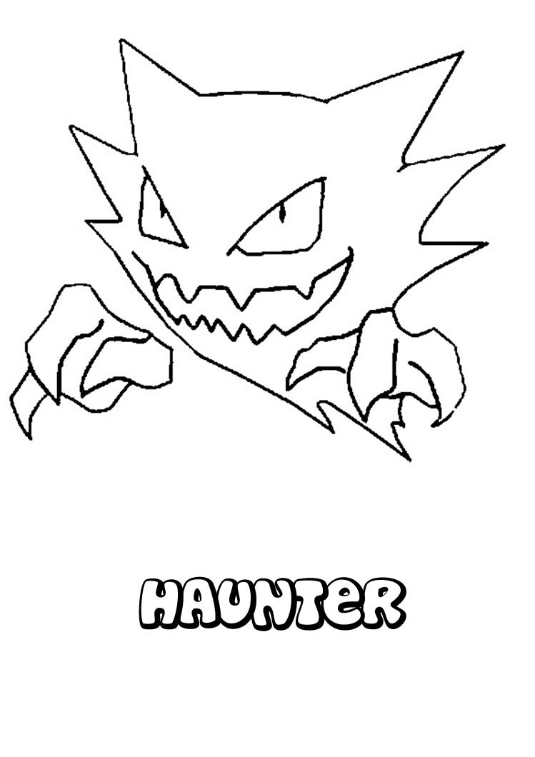 749x1060 Haunter Coloring Pages