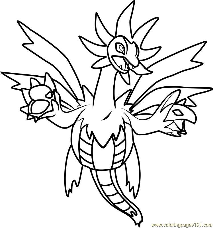 748x800 Hydreigon Pokemon Coloring Page