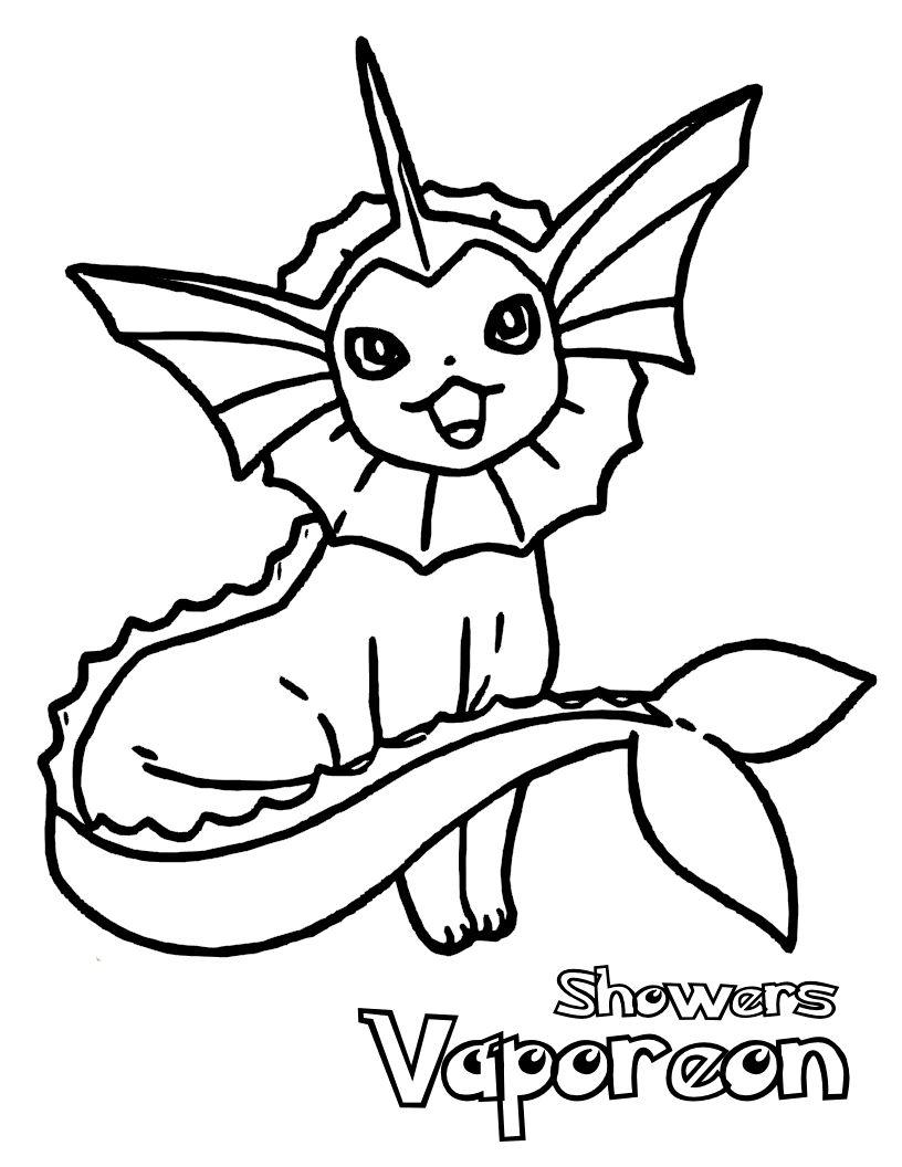 816x1056 Pokemon Vaporeon Pokemon Coloring Pages