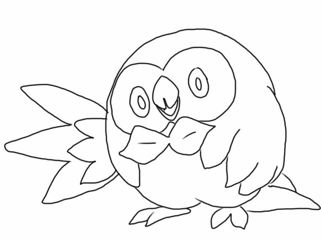 1024x768 Shocking Rowlett Pokemon Coloring Page More At Aegeandrawncom