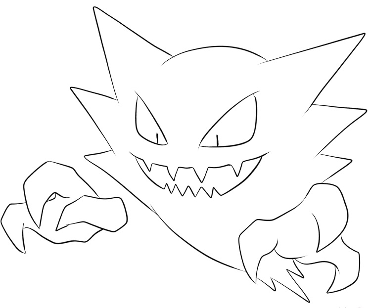 750x623 Pokemon Coloring Pages Haunter