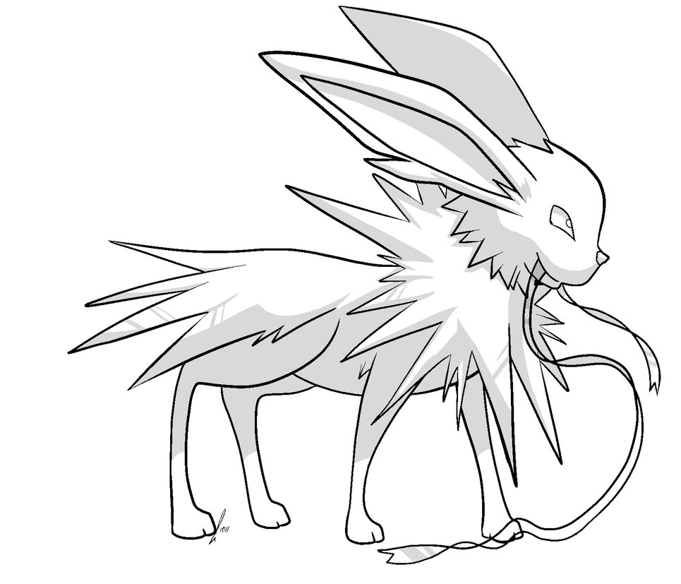 965x827 Jolteon Coloring Pages Selection Free Coloring Pages