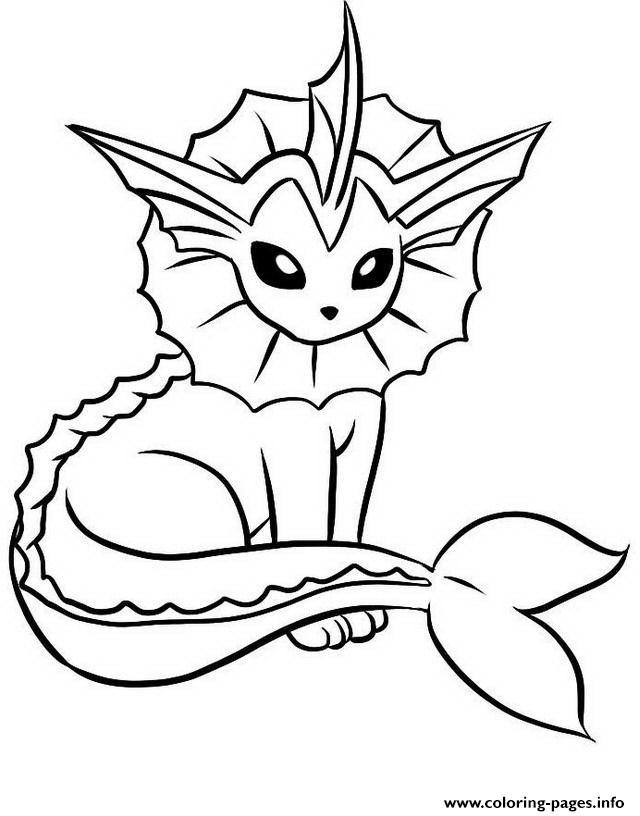 640x816 Print Vaporeon Eevee Pokemon Evolutions Coloring Pages Eevee