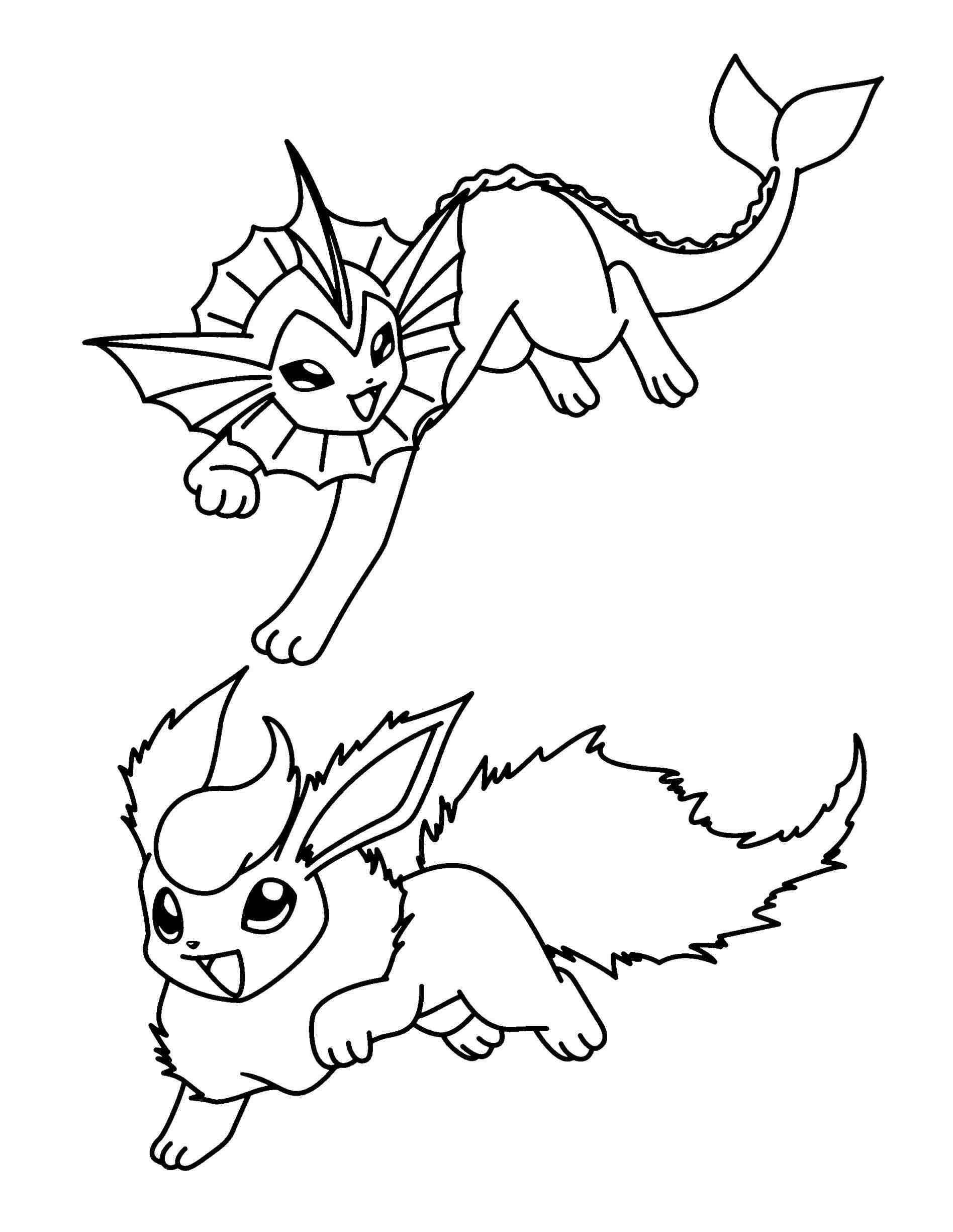 The best free Vaporeon coloring page images. Download from ...
