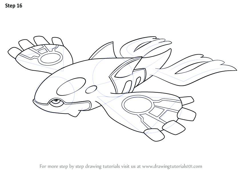 Pokemon Coloring Pages Kyogre At GetDrawings.com