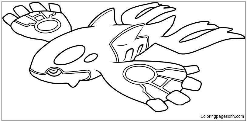 813x404 Kyogre Pokemon Coloring Page
