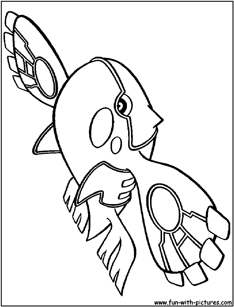 800x1050 Kyogre Pokemon Coloring Pages Free Coloring For Kids