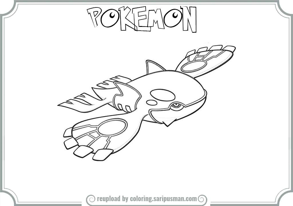 1024x720 Kyogre Coloring Page Free Download
