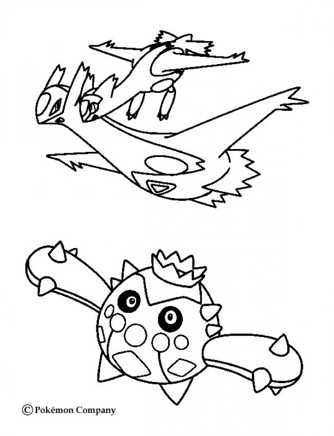 651x850 Latios And Cacnea Coloring Pages