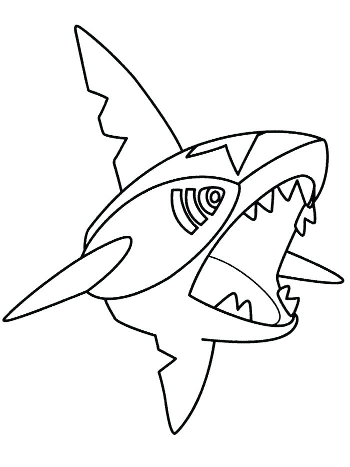 700x933 Sharpedo Pokemon Coloring Page Pages Coloriage Mega