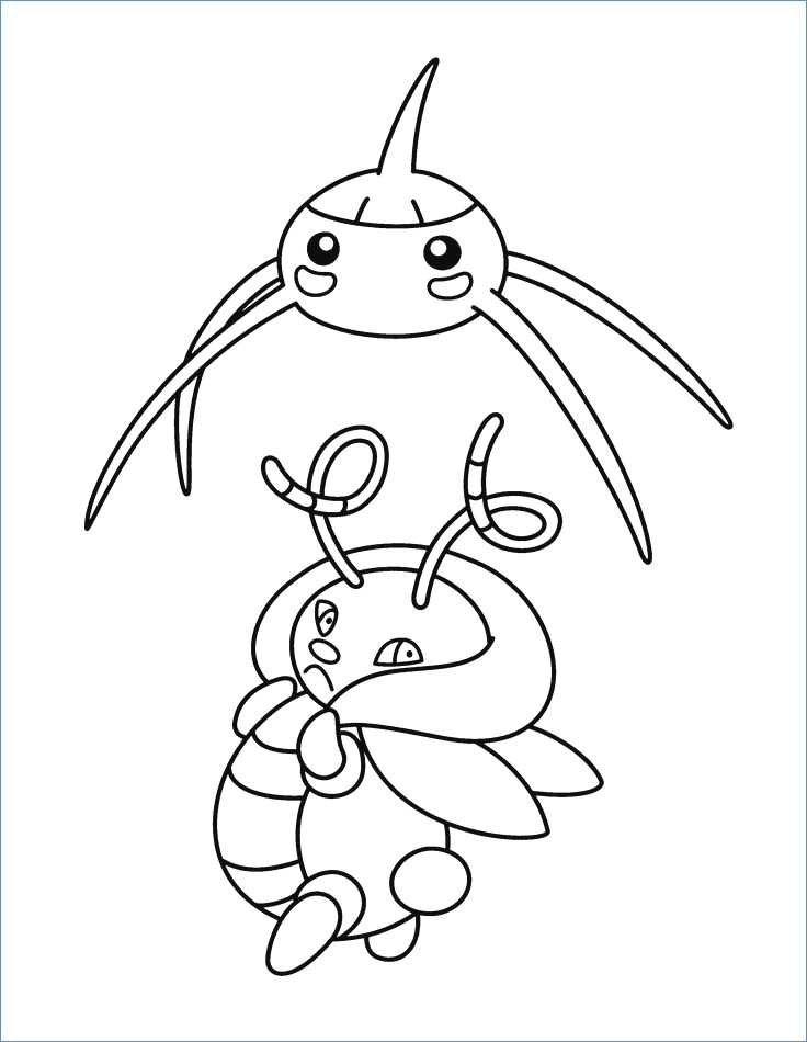 736x950 Doduo Pokemon Coloring Page