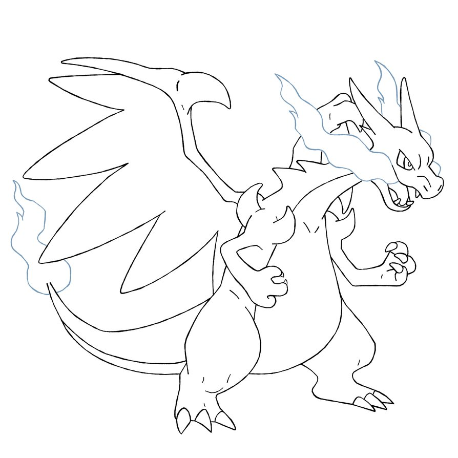 894x894 Mega Charizard Coloring Page Pokemon Coloring Pages Mega Charizard