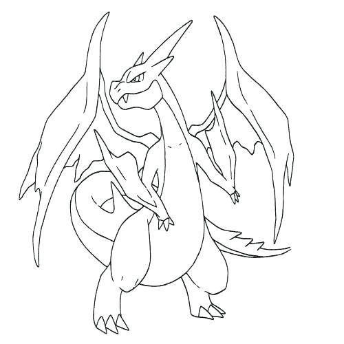 500x500 Pokemon Charizard Coloring Pages Free Coloring Pages