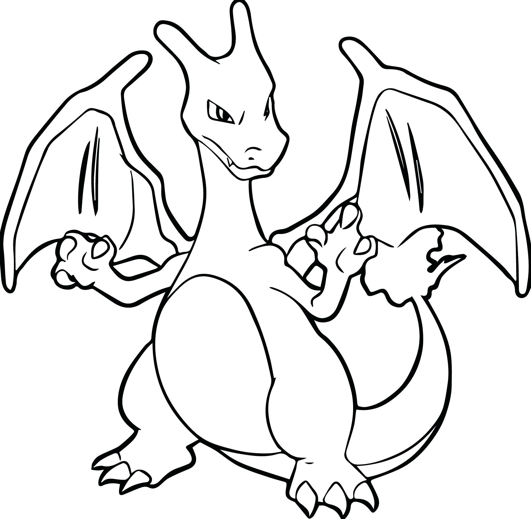 1758x1719 Pokemon Coloring Pages Mega Charizard X Ex Y Unusual