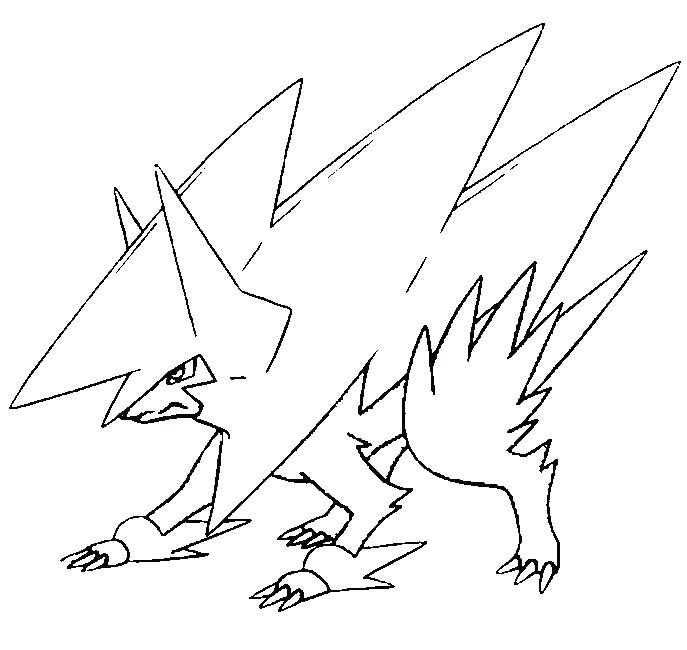 687x650 Coloring Pages Mega Evolved Drawing Coloring Page Mega Pokemon