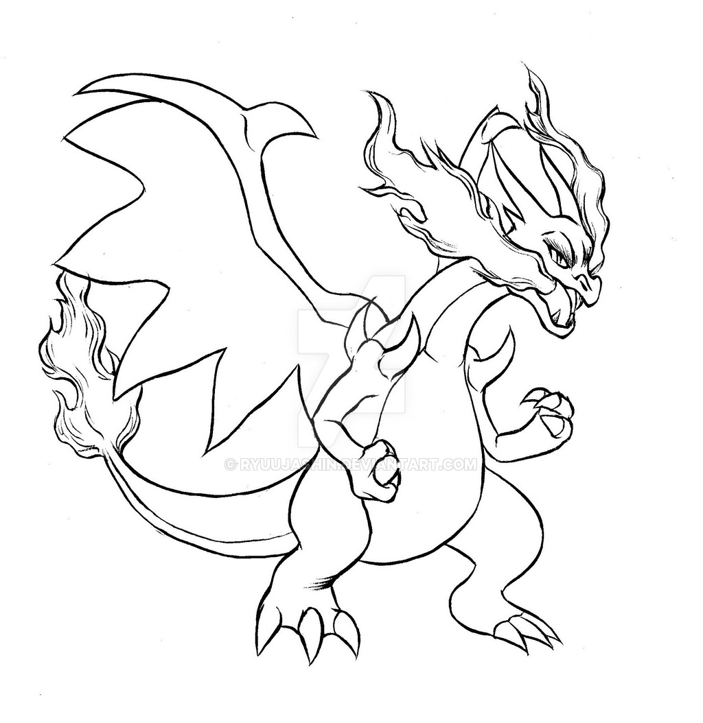 1024x1054 Cool Design Mega Charizard Coloring Page Download Pages