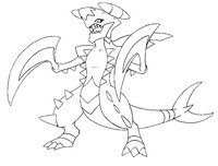 200x152 Coloring Pages Mega Evolved Pokemon Drawing