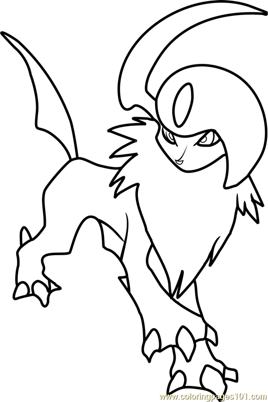 534x800 Absol Pokemon Coloring Page