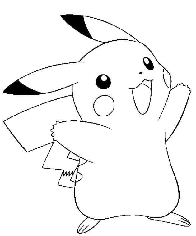 630x760 Pikachu Pokemon Coloring Pages
