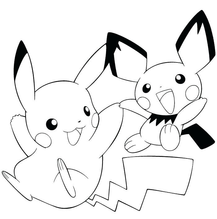 700x705 Pokemon Coloring Pages Pikachu With Little Coloring Pages Coloring