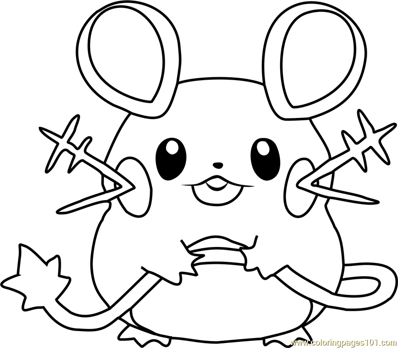 800x699 Dedenne Pokemon Coloring Page