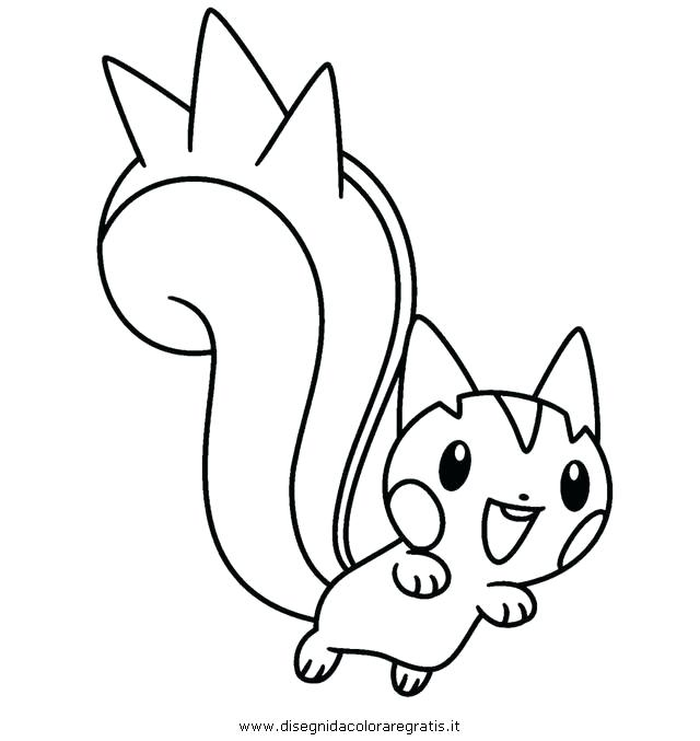 640x677 Pachirisu Coloring Pages Coloriage Pokemon